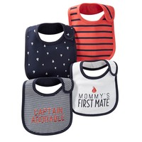 Carter's 4-pk. Nautical Bibs (Blue)