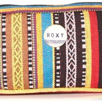 Roxy Junior's Pipeline Case Novelty Pencil Pouch, Rainbow Stripe, One Size