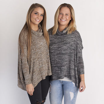 audrey sweaters in brown and black