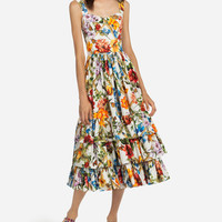 Women's clothing | Dolce&Gabbana - SUN DRESS IN PRINTED COTTON