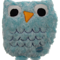"Blue Owl Pillow Multi Color LED Light Up Flash Plush 10"" Microbeads Home Decor"