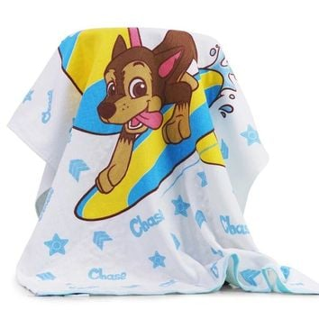 Hot Genuine Paw Patrol Children's bath towel Baby cartoon Comfortable Pure cotton towel 140*70cm chase skye rubble kids toy gift