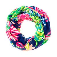 Resort Infinity Loop Scarf - Travelers Palm | 24938409RQ4 | Lilly Pulitzer