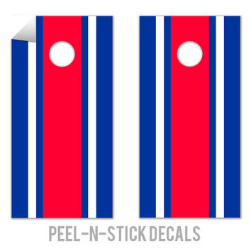 Classic Stripe - Red, White, Blue Decals