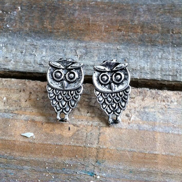 Owl Earrings - Owl Stud Earrings - Owl Stud Earrings, Owl Post Earrings