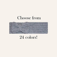 Knitted Bow Headband Ear Warmer Womens Fall Headband Stocking Stuffer For Her Hair Band Cute Headband Grey Headband Knitted Bow Earwarmer
