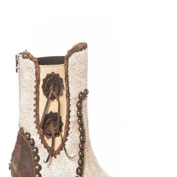 Double D by Old Gringo Stockyards Boot~ Crackled White