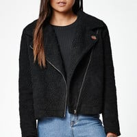 OBEY Arctic Sherpa Fleece Moto Jacket at PacSun.com