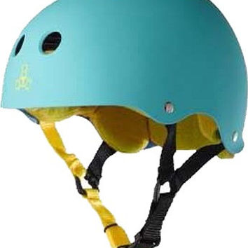 Triple 8 Helmet Teal Rubber/Yellow Medium