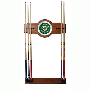 NHL Minnesota Wild 2 piece Wood and Mirror Wall Cue Rack