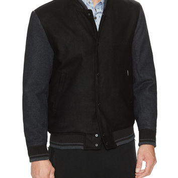 Ben Sherman Men's Woven Duffle Coat - Black -