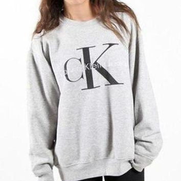 CREYUP0 Calvin klein Jeans Long Sleeve Pullover Sweatshirt Top Sweater-4