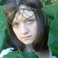 Renaissance  head chain for  Renaissance medieval festival and tribal fusion