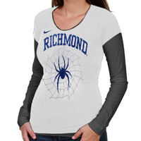 Nike Richmond Spiders Ladies Sunny Day Cross Campus Double Layer Long Sleeve T-Shirt - White