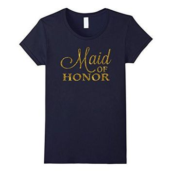 Maid Of Honor Shirt Bride Shirts Gold Foil