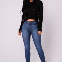 Saw The End Coming Jeans - Medium Wash