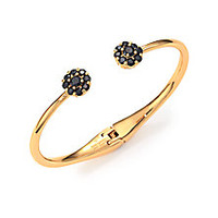 Kate Spade New York - Rise & Shine Flower Bangle Bracelet/Black - Saks Fifth Avenue Mobile