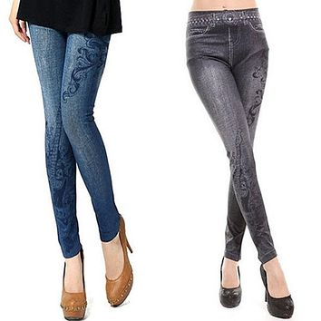 New Arrival Jeans Women's Vintage High Waist Tights Pants Trouser Tight Stretch Skinny Leggings Jeggings