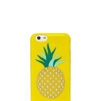 Kate Spade Embellished Pineapple Resin Iphone 6 Case Lemon Yellow ONE