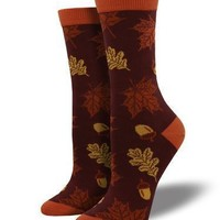 Bamboo Autumn Leaves Socks