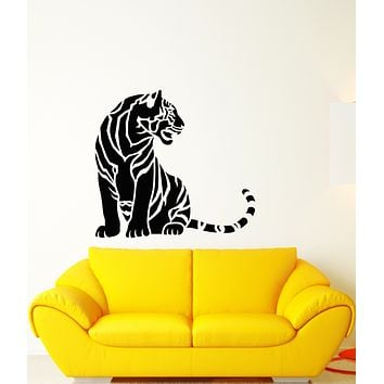 Vinyl Wall Decal Abstract African Tiger Big Cat Predator Stickers (3579ig)