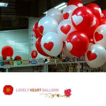 PEAPIX3 20pcs Thicken Latex Balloons Party Festival Wedding Decorations  Large Valentine Printed Heart (Color: Multicolor) = 1933017604