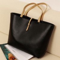 Stylish Korean Casual Tote Bag Simple Design Bags Ladies Shoulder Bags [6581089479]