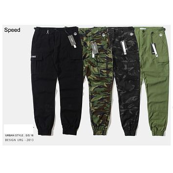 Speed skateboards  men's cargo jogger pants army military camo camouflage joggers chino pants