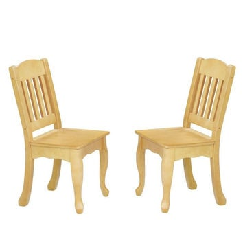 Teamson Kids - Windsor Set of 2 Chairs - Natural