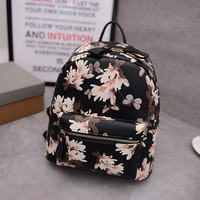 Stylish Fashion Print Rivet Casual Backpack [6583211463]
