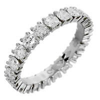 Cartier Diamond Platinum Eternity Band Ring