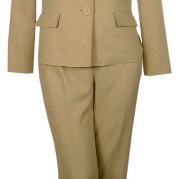 Le Suit Women's Boboli Gardens Shawl Pant Suit Set