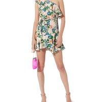 Perryn One Shoulder Floral Dress