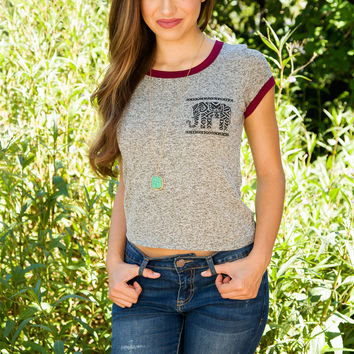 Rose Elephant Top