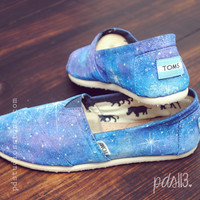 Custom Hand painted Toms, Galaxy Toms