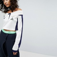 Puma X Fenty Off The Shoulder Collared Jersey at asos.com