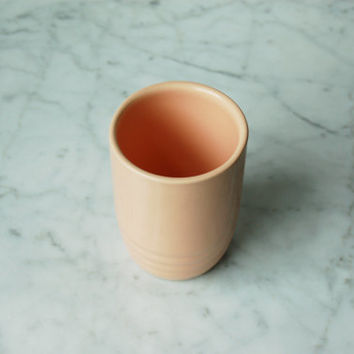 Pink Ceramic Cup / Desk Storage / Pencil Holder / Light Pink Vintage Pottery / Mid Century Modern Vase / Made in USA