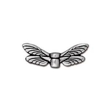 94-5588-12 - TierraCast Antique Silver Pewter Dragonfly Wings | Pkg 2