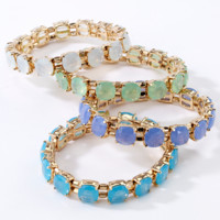 Faceted Stretch Bracelets Assorted Colors