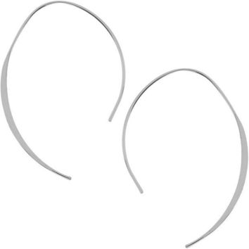 DCCKV2S Humble Chic Upside Down Hoops - Open Wire Needle Drop Dangle Threader Earrings