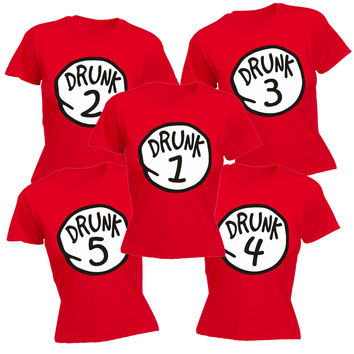 123t USA Women's Drunk Please Message Us Which Drunk You Would Like Funny T-Shirt