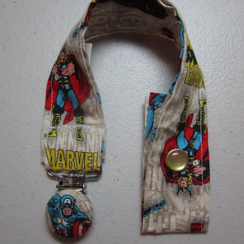 Marvel Comics Pacifier Clip  Captain America and by adrisadorables