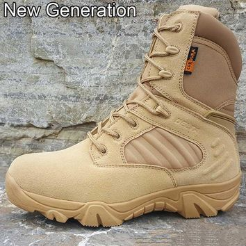 Winter Army Men's Military Outdoor Desert Combat Tactic Mid-calf Boots Men Snow Tactical Hiking Boots Botas Hombre Zapats