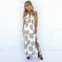 Chapter In Life Halter Floral Maxi Dress
