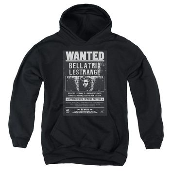 Harry Potter - Wanted Bellatrix Youth Pull Over Hoodie