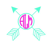 Arrow Monogram Decal Add Personality to Christmas Gifts, Great personal Gift, Gift Wrap Option, Personalize So Many Things