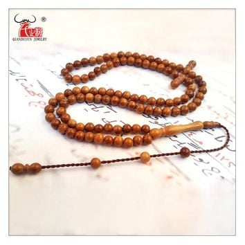 Islam High Quality Muslim Rosary Beads 99 Allah Prayer Beads Natural Palm Fruit Kuka Tasbih Charm Bracelet 5-9mm specifications