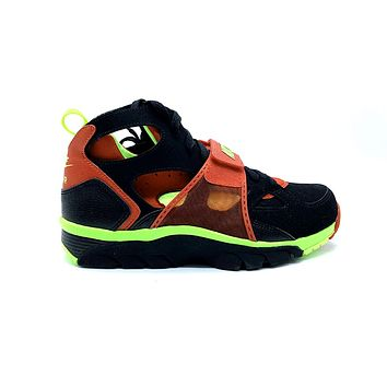 Nike Men's Air Trainer Huarache Black Volt University Red Cross Trainers Shoes