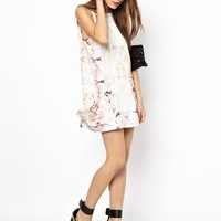 Finders Keepers Thinking of You Shift Dress in Rose Print