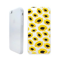 Sunflower Tropical Folwer Summer Beach Holiday Rubber Jelly Matt White Plastic Phone Case for Iphone_ SUPERTRAMPshop (VAS1391, iphone 6)